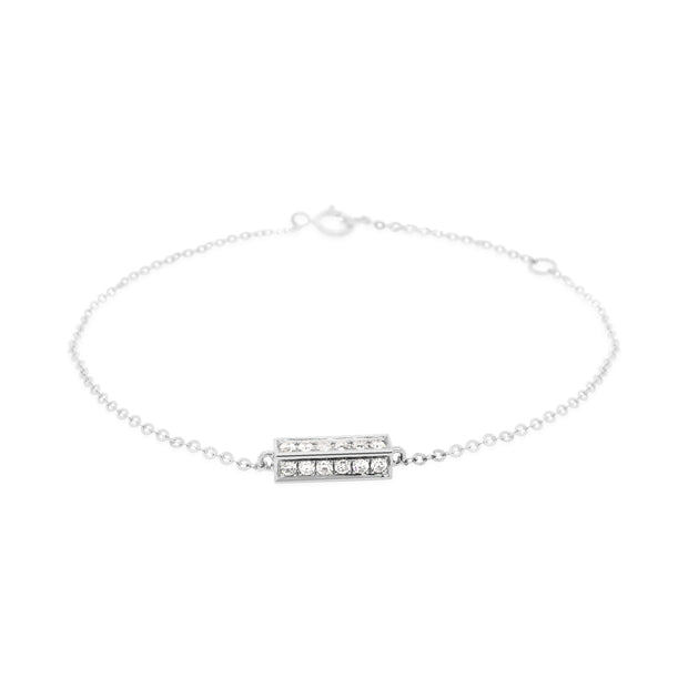 Diamond Pave Box Bracelet