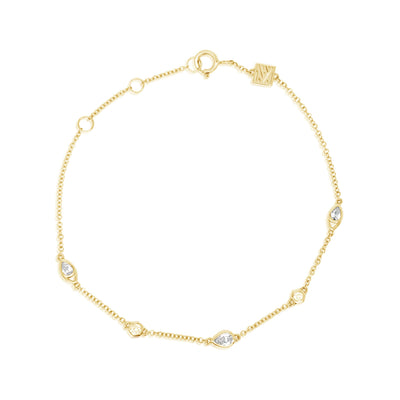 Pear + Hexagon Diamond Bracelet
