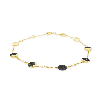 Black Diamond Moon Bracelet