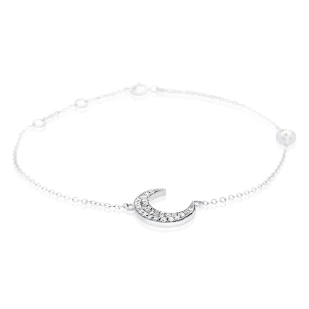 Diamond Moon Bracelet