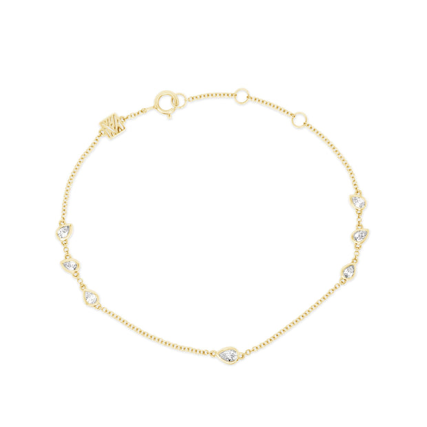 Scattered Pear Diamond Bracelet