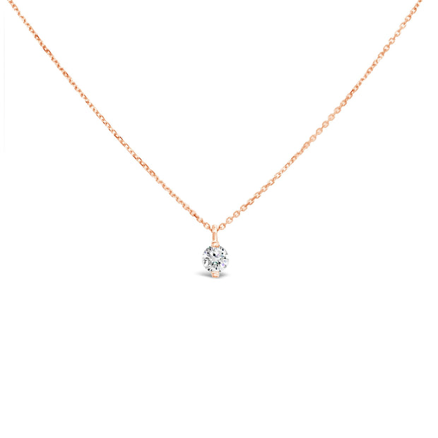 Floating mini diamond necklace