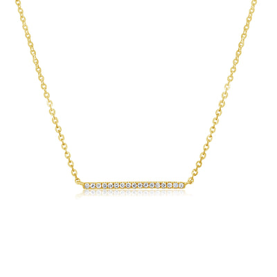 MEDIUM DIAMOND BAR NECKLACE - KLARITY LONDON