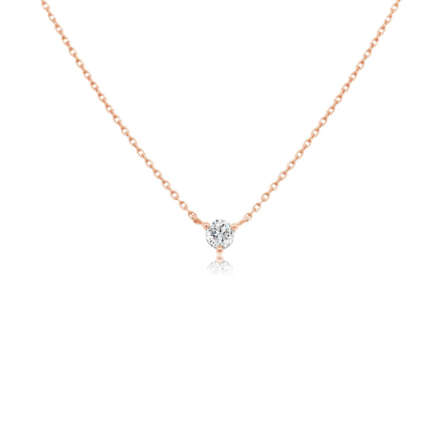 Three claw diamond necklace