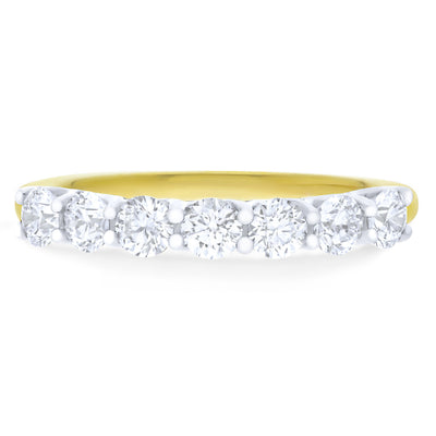 FOREVERMARK™ SEVEN DIAMOND RING - KLARITY LONDON