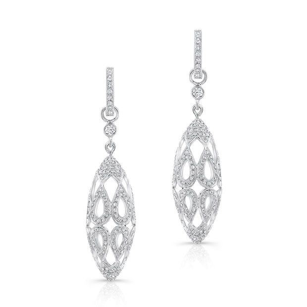 Diamond Drop Earring - KLARITY LONDON