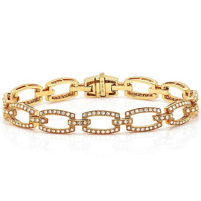 Pave Diamond Link Bracelet - KLARITY LONDON