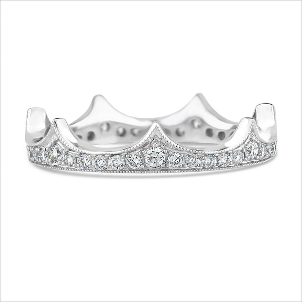 Beverley K Diamond Crown Ring - KLARITY LONDON
