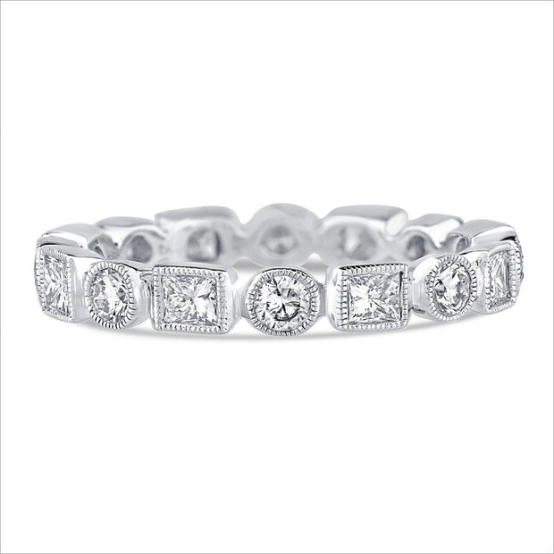 Beverley K Round and Square Diamond Band - KLARITY LONDON