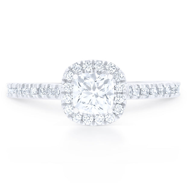 FOREVERMARK™ CUSHION HALO RING - KLARITY LONDON