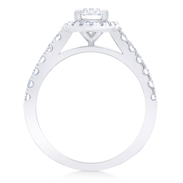 FOREVERMARK™ OVAL HALO RING - KLARITY LONDON