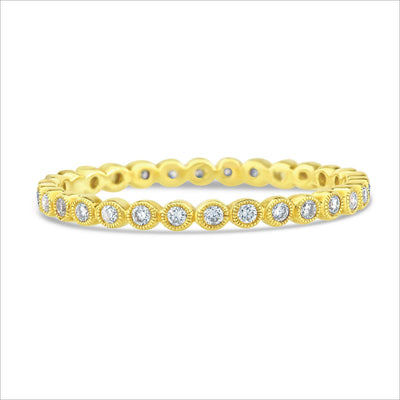 Beverley K Bezel Set Diamond Band - KLARITY LONDON