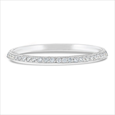 Beverley K Half Knife Edge Diamond Band - KLARITY LONDON