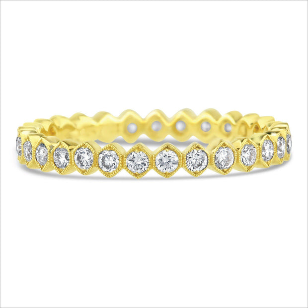 Beverley K Hexagon Diamond Band - KLARITY LONDON