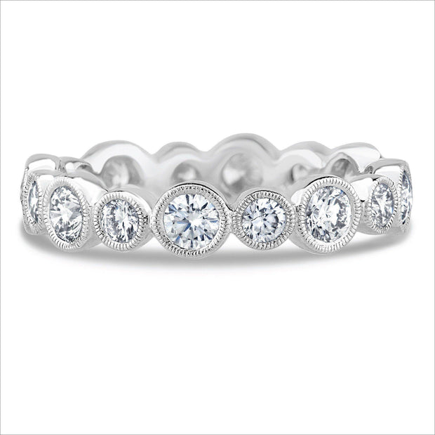 Beverley K Alternating Bezel Set Diamond Band - KLARITY LONDON