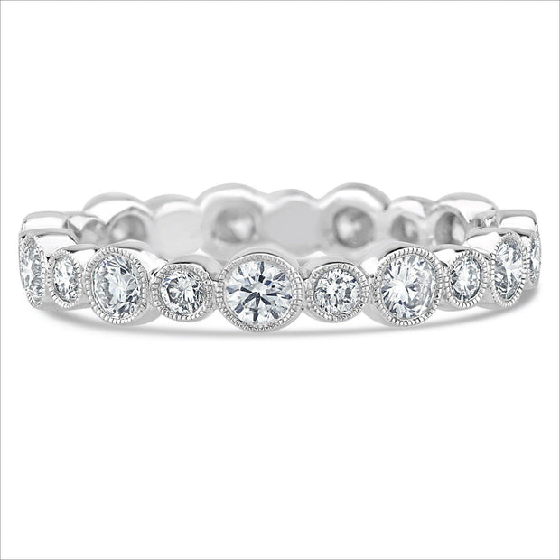 Beverley K Medium Alternating Bezel Set Diamond Band - KLARITY LONDON