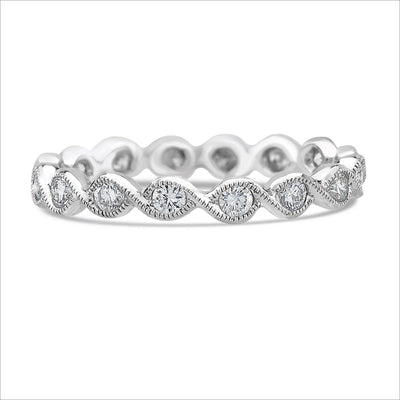 Beverley K Twist Diamond Band - KLARITY LONDON