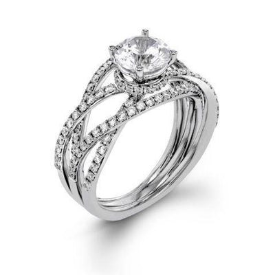 Contemporary Multi Band Solitaire Ring - KLARITY LONDON