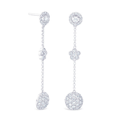 Round Halo & Cluster Drops £2800 - KLARITY LONDON