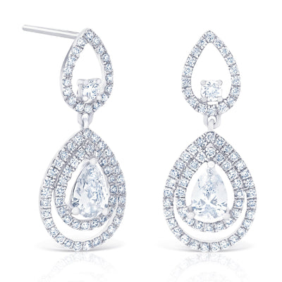 Double Halo Tear Drops £3000 - KLARITY LONDON