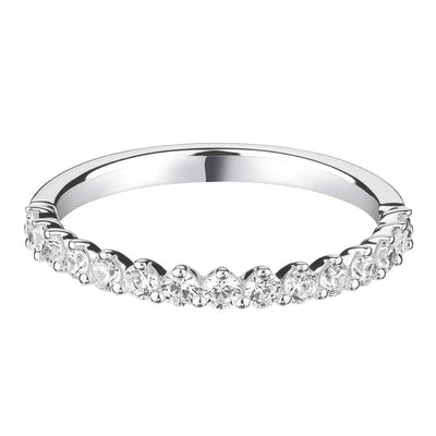 Dainty Three Claw Diamond Set Band