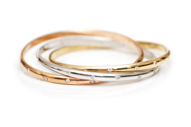 Klarity Bangle Plain 18k Yellow Gold - KLARITY LONDON