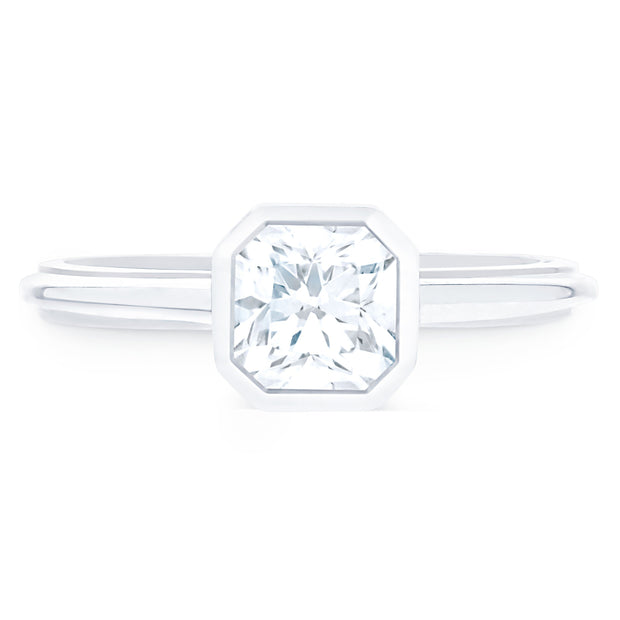 FOREVERMARK™ BEZEL DIAMOND RING - KLARITY LONDON