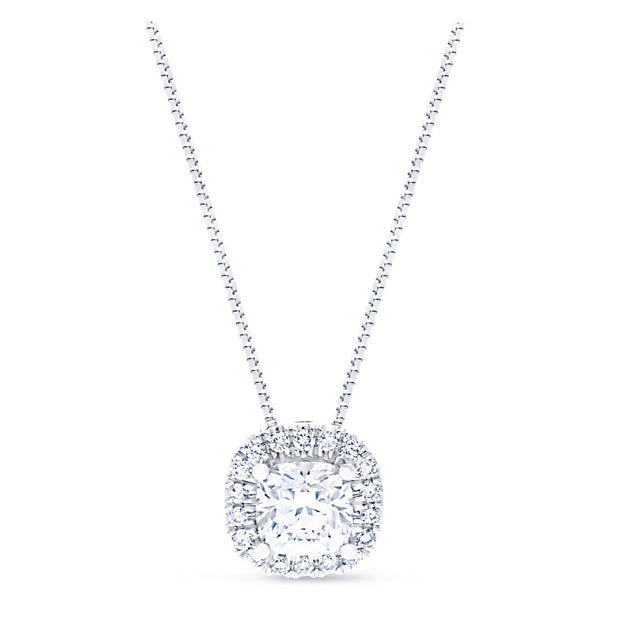FOREVERMARK™ CUSHION HALO PENDANT - KLARITY LONDON