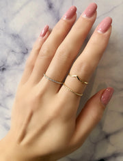 Super Fine Rope Ring - KLARITY LONDON
