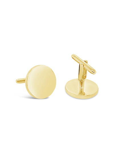 Round Solid Gold Cufflinks