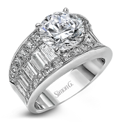 18k White Gold Diamond Dress Ring MR1922 - KLARITY LONDON