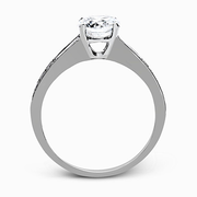 18k White Gold Solitaire Diamond Vintage Ring MR2220 - KLARITY LONDON