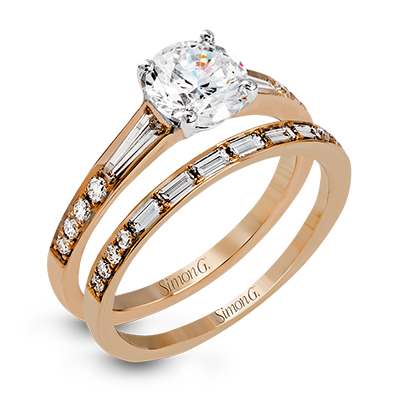18k Rose Gold Solitaire Diamond Vintage Ring MR2220 - KLARITY LONDON
