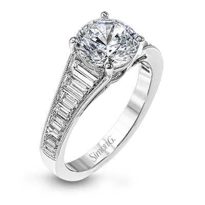 18k White Gold Diamond Dress Ring MR2358 - KLARITY LONDON