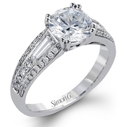 18k White Gold Diamond Dress Ring MR2628 - KLARITY LONDON