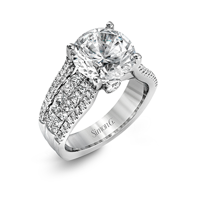 18k White Gold Diamond Dress Ring MR2691 - KLARITY LONDON