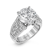 18k White Gold Diamond Dress Ring MR2711 - KLARITY LONDON