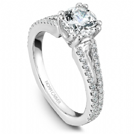 Diamond Split Shoulder Ring