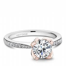 Rose Accent Diamond Ring - KLARITY LONDON