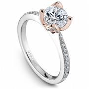 Rose Accent Diamond Ring