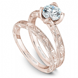 Rose Engraved Shoulder Ring