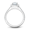 Oval Halo Diamond Shoulder Ring