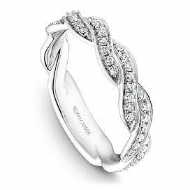 Diamond Twisted Shoulder Ring