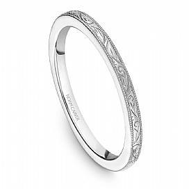 Dainty Engraved Shoulder Ring