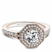 Octagon Halo Diamond Ring