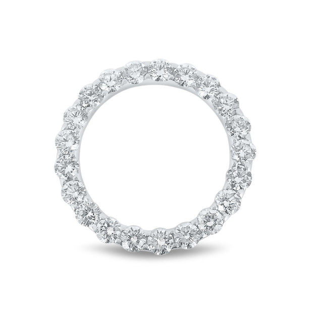 18k White Gold Diamond Halo Pendant - KLARITY LONDON
