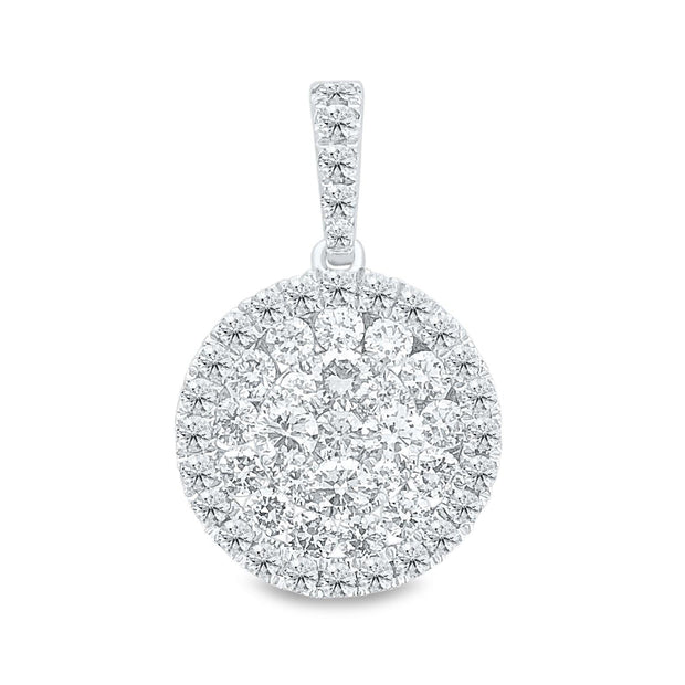 18k White Gold Diamond Cluster Pendant (Small) - KLARITY LONDON