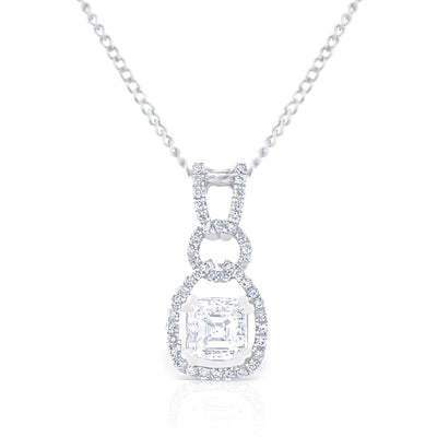 Art Deco Asscher Pendant £2300 - KLARITY LONDON