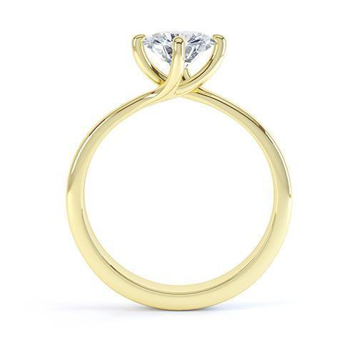 18k White Gold Diamond Solitaire Ring - Round Brilliant Cut (GIA F VS2 0.30ct) Excellent Cut - KLARITY LONDON