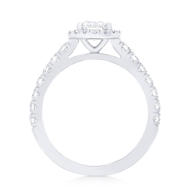 FOREVERMARK™ ROUND HALO RING - KLARITY LONDON